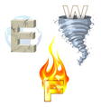 earth wind fire vector image