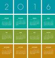 2016 boxes Calendar vector image