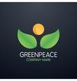 logo greenpeace company vector image