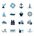 Cruise icons set vector image