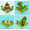 Isometric 2x2 Landscape Design Concept vector image