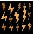 Set of brawn doodle simple lightning group of vector image