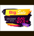 big sale discount offer -20 vector image