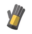 cartoon glove protection industrial shadow vector image