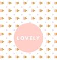 Creative girlie card vector image