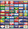Elements of design icons flags of the continent of vector image