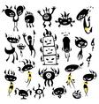 mushroom monsters vector image