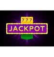 Retro banner of jackpot vector image
