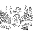 Seahorse coloring pages vector image