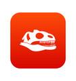skull of dinosaur icon digital red vector image