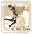 slam jam basketball vector image