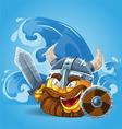 Smile Viking in helmet vector image