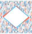 Template for card or invitation with small spots vector image