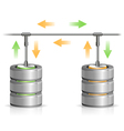 Database Backup Concept vector image