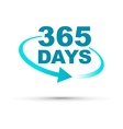 blue 365 days vector image vector image