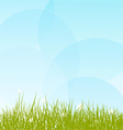 Background with grass and sky vector image