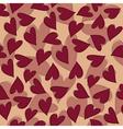marsala hearts pattern vector image