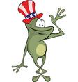 green frog Cartoon vector image