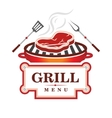Grill menu design vector image