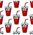 Cartoon takeaway beverage seamless pattern vector image