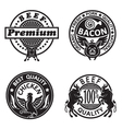 collection of grill labels vector image