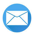 envelope icon mail symbol white silhouette on vector image