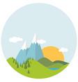 flat designspring landscape vector image