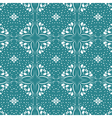 Floral seamless pattern collection vintage color vector image