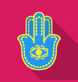 Hamsa icon in flat style isolated on white vector image
