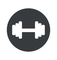 Monochrome round barbell icon vector image