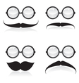 Mustache and sunglasses vector image