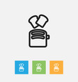 of meal symbol on toaster vector image