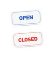 open and closed signboards tags isolated vector image