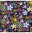 Seamless floral pattern with a lot of little vector image