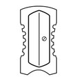 Sharpener icon outline line style vector image
