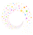 Stream of Multicolored Stars vector image