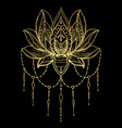 tattoo of the golden lotus vector image