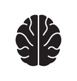 Flat icon in black and white human brain vector image