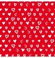 Seamless hand drawn hearts vector image
