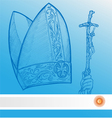 vatican symbolS with argentina flag vector image vector image