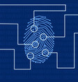 fingerprint biometric identification vector image