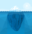 Full big iceberg in the sea vector image vector image