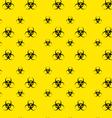 Seamless Pattern with Bio Hazard Signs Wallpaper vector image