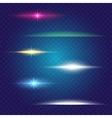 Linear glow light effect brushes set vector image