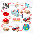 Delivery 01 Infographic Isometric vector image