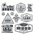 Set of emblems for t shirt vector image