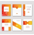 Set of brochures in poligonal style Beautiful vector image