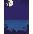 Tropical night ocean landscape vector image vector image