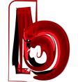 Artistic font letter b vector image