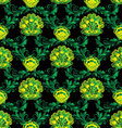 Floral green baroque seamless pattern vector image